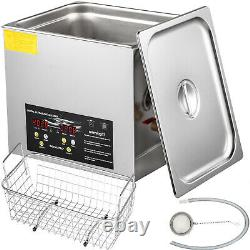 VEVOR 10L Ultrasonic Cleaner Industry Jewelry Clean 400W Digital Heater withTimer