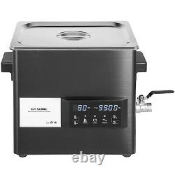 VEVOR 15L Ultrasonic Cleaner Stainless Steel Digital Touch Jewerly Lab Cleaner
