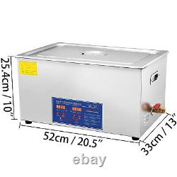 VEVOR 22L Ultrasonic Cleaner Stainless Steel Industry Heated with Heater & Timer