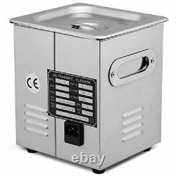 VEVOR Commercial Ultrasonic Cleaner 6L Heated Ultrasonic Cleaner with Digital