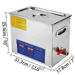 VEVOR Commercial Ultrasonic Cleaner 6L Heated Ultrasonic Cleaner with Digital 6L