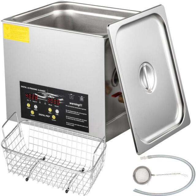 Vevor Ultrasonic Cleaner 3l Stainless Steel 200w Digital Industry Heated Withtimer