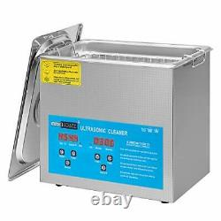 VIVOHOME Professional 3L Ultrasonic Parts Cleaner Machine with Digital Timer and